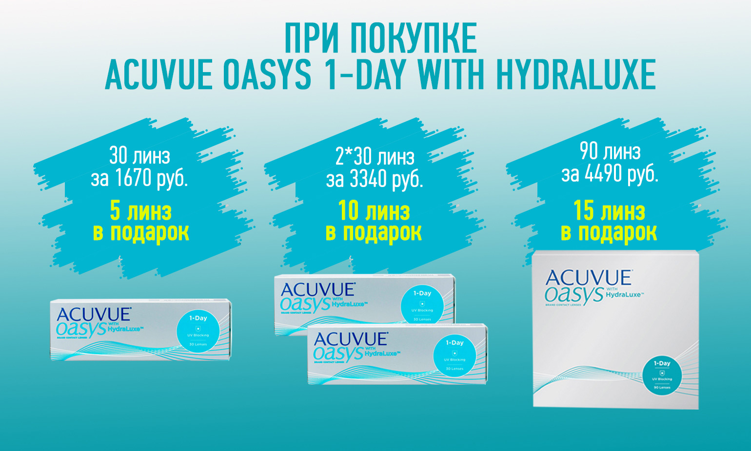 17bb44239d743 Контактные линзы Johnson & Johnson ACUVUE OASYS 1-Day with HydraLuxe™ 30  линз